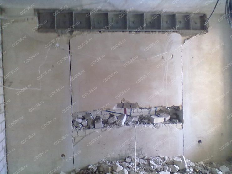 Устройство проёма в несущей стене